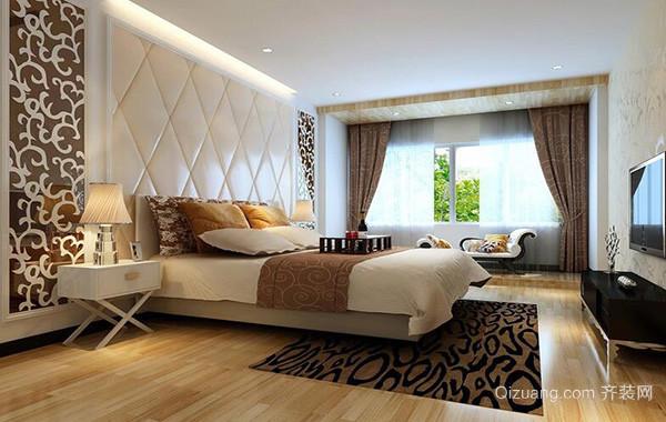100平米欧式房屋卧室背景墙设计装修效果图