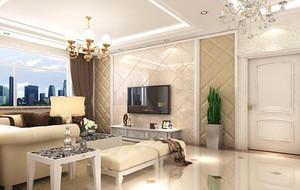 90平米现代主义风格客厅电视背景墙装修效果图