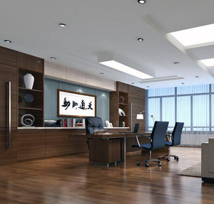2016精致的现代董事长办公室吊顶装修效果图欣赏