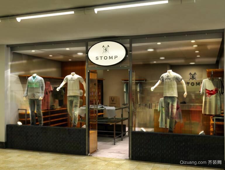 2016都市唯美的现代服装店装修效果图实例