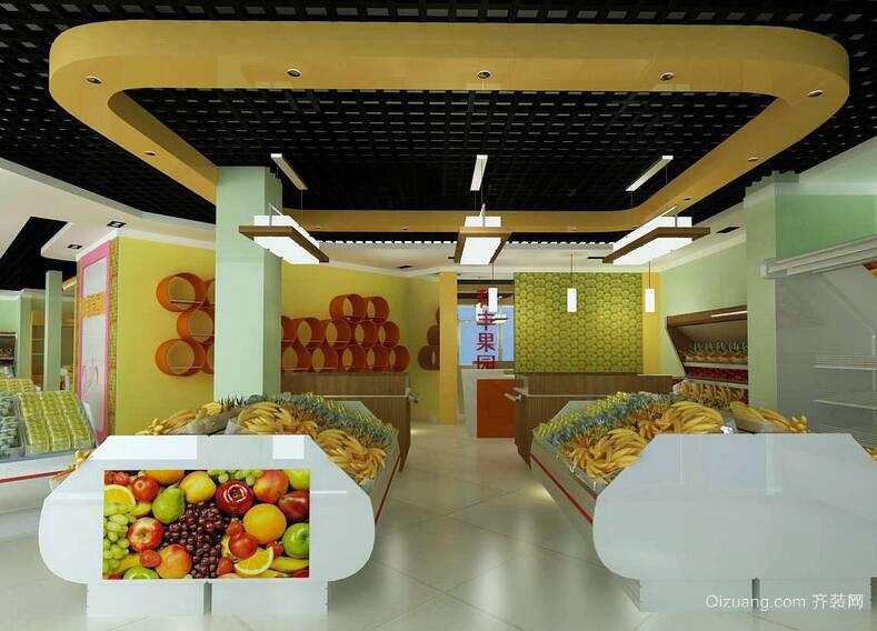 现代都市水果店室内装修效果图欣赏