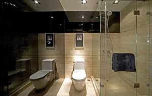 10平米现代简约卫生间装修效果图