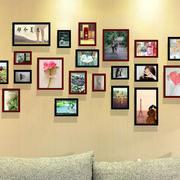 时尚客厅照片墙效果图