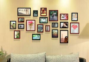 现代时尚简约照片墙装修范本
