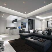 2016精致的别墅型欧式客厅装修效果图实例