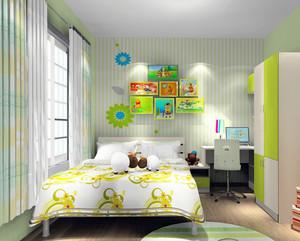 卡通时尚主题儿童房装修效果图