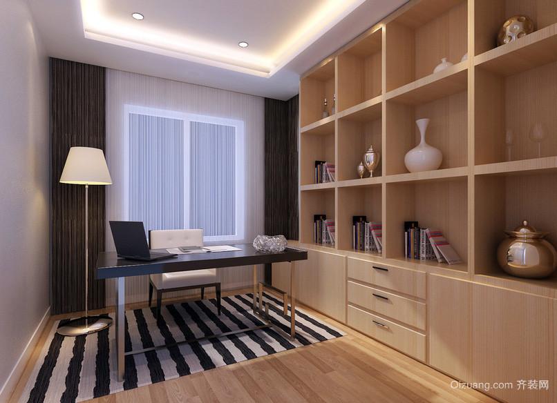 10平米现代简约都市风格书房室内设计装修效果图