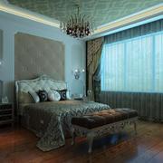 奢华卧室吊灯装修效果图