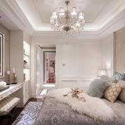 简欧风格时尚华丽卧室装修效果图