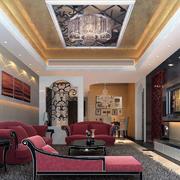 现代欧式大户型室内吊顶装修效果图欣赏