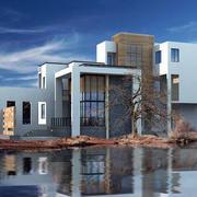 现代风格别墅效果图