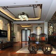 2016独特的大户型中式客厅装修效果图实例