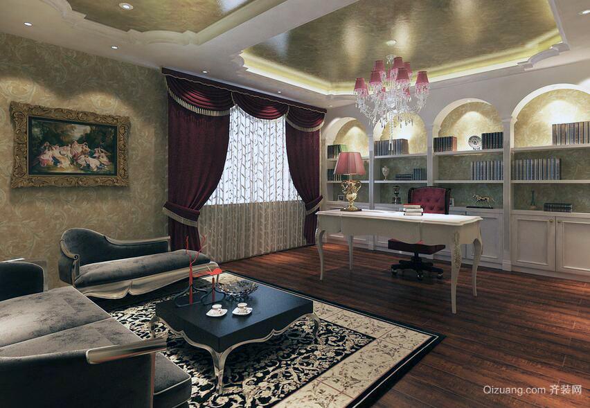 欧式风格别墅型高档的书房装修效果图欣赏