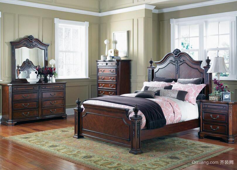 小户型美式装修风格样板房卧室装修效果图欣赏