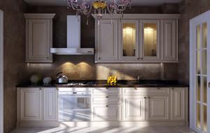 现代欧式别墅型完美的厨房吊顶装修效果图