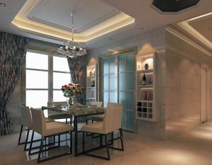 简欧风格舒适小户型餐厅吊顶装修效果图实例