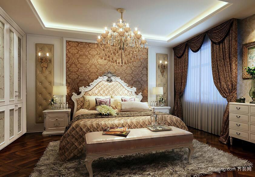 小户型现代简欧风格卧室背景墙装修效果图实例