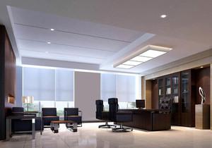 现代都市总经理办公室装修效果图实例