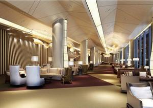 2016高雅的现代酒店吊顶装修效果图欣赏