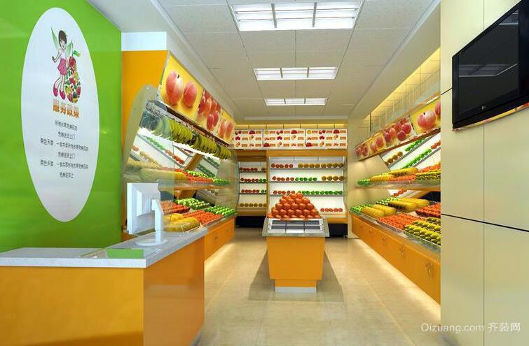 2016现代都市水果店室内装修效果图欣赏