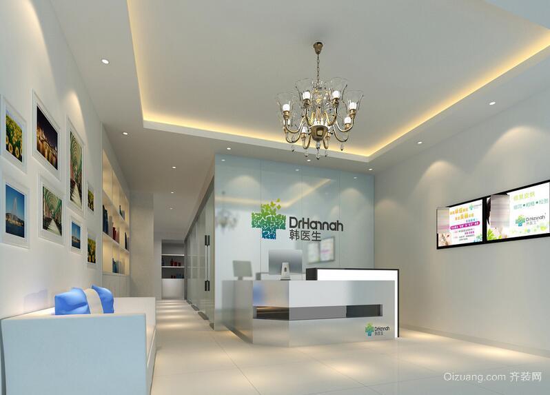 120平米都市现代美容院室内装修效果图