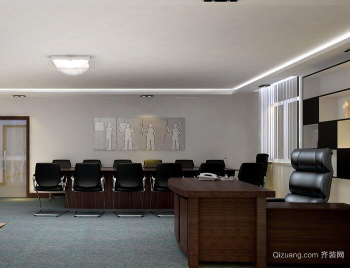 现代经典的老板办公室装修效果图
