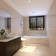 40平米欧式风格小户型卫生间装修效果图欣赏