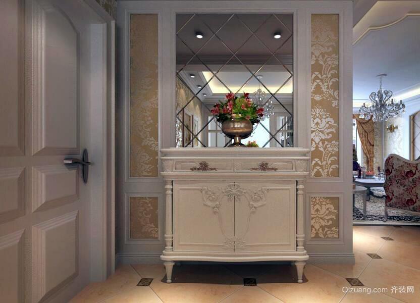 90平米现代欧式室内鞋柜装修效果图