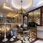 2016唯美的大户型欧式客厅室内装修效果图