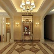 欧式风格别墅型室内玄关装修效果图欣赏