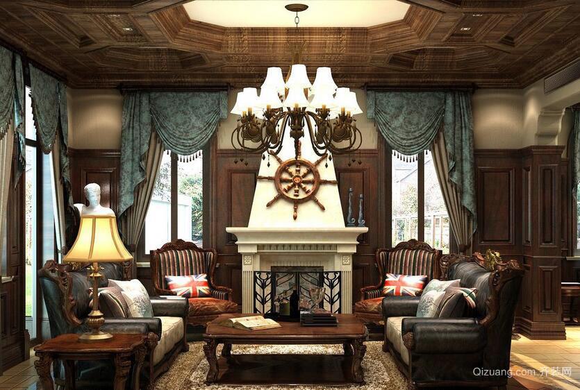 小户型美式装修风格样板房客厅装修效果图鉴赏