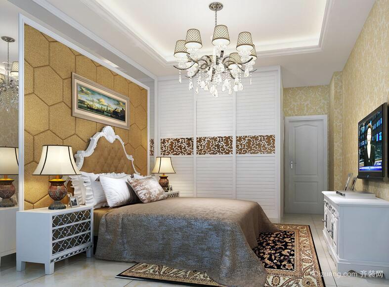 精致的现代别墅型欧式卧室装修设计效果图