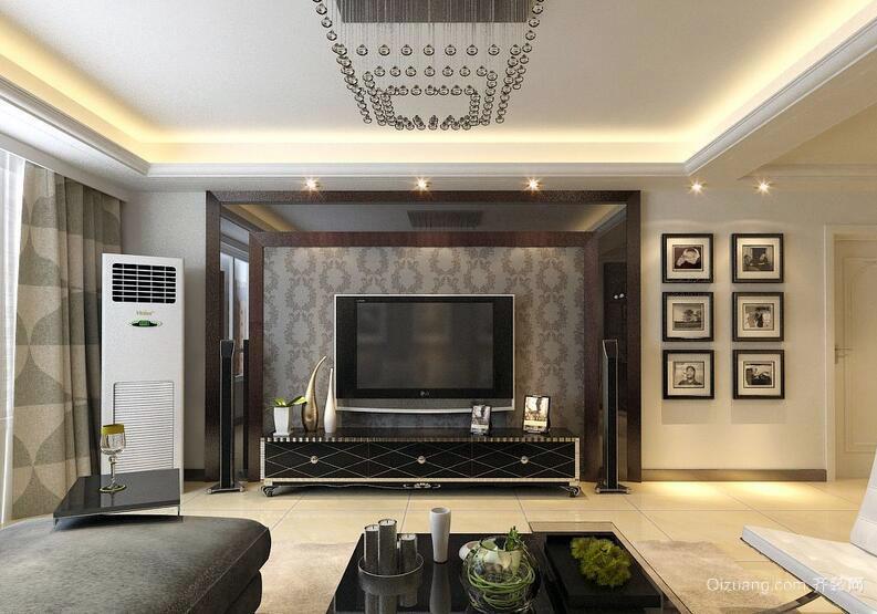 欧式风格大户型精致的电视墙背景装修效果图