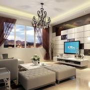 100平米高档的现代简约客厅室内装修效果图