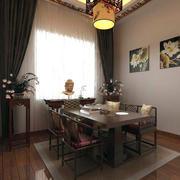 大户型现代中式餐厅装修设计效果图欣赏