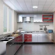 现代欧式别墅型不锈钢橱柜装修效果图欣赏