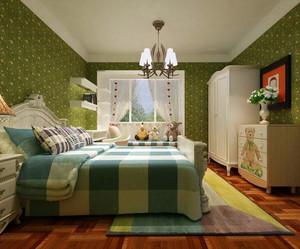现代精美大户型儿童房卧室背景墙装修效果图