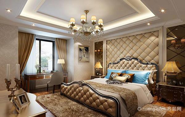 别墅现代欧式卧室软包背景墙装修效果图欣赏