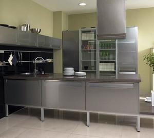 欧式风格大户型室内不锈钢橱柜装修效果图