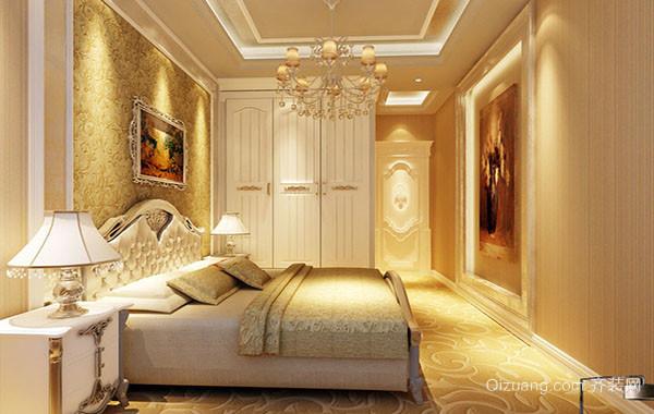 120平米欧式风格卧室吊灯装修效果图