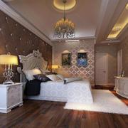 欧式卧室吊灯装修效果图
