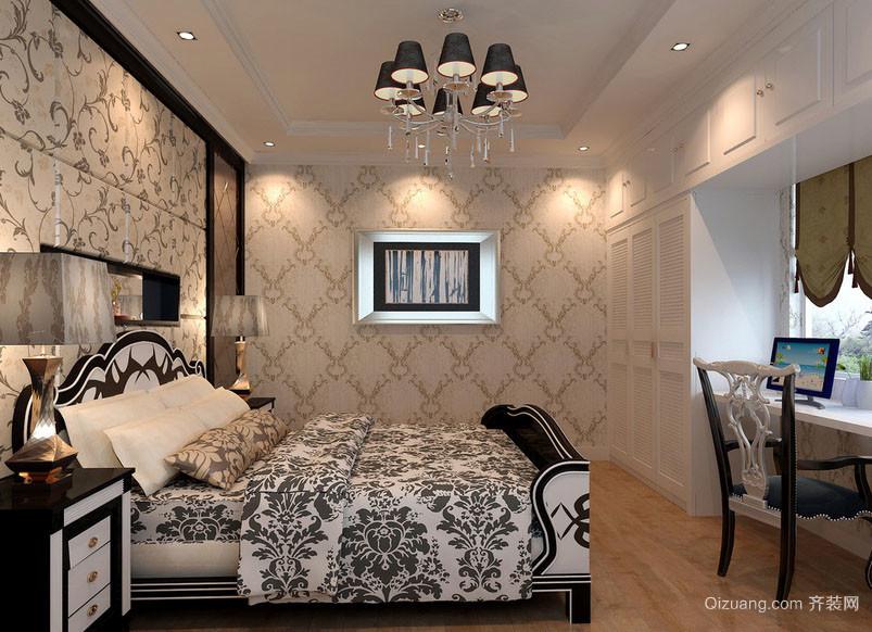 欧式风格轻松自然卧室吊灯装修效果图
