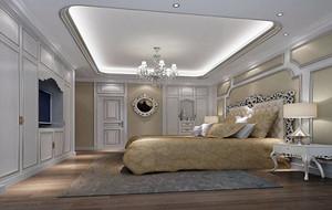 现代简欧风格别墅卧室吊顶装修效果图