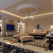 复古欧式风格客厅装修效果图