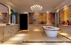 欧式风格精致别墅型浴室室内装修效果图