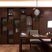 古典中式风格书房整体装修效果图