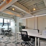90平米混搭风格办公室室内装修设计效果图