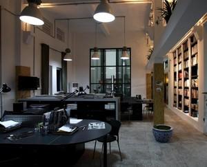 90平米自然风格独特的办公室设计装修效果图