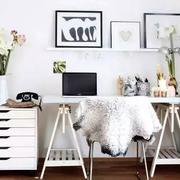 现代朴素风格办公室室内装修设计效果图