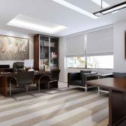 120平米时尚的轻快办公室室内装修效果图欣赏